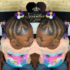 Children's Braids and Beads! DM me for booking information! #ChildrenHairStyles #BraidArt #ChildrensBraids #BraidsAndBeads #kidsbraidsatl… Cornrows For Little Girls, Little Girl Hairdos, Lil Girl Hairstyles, Black Kids Hairstyles, Teenage Hairstyles, Braids For Kids, Girls Braids, Braid Hairstyles, Hair