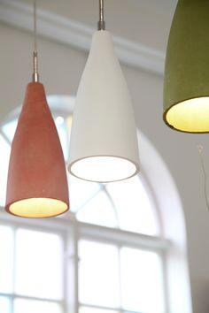 Namur fönsterlampa/pendel i pasteller.