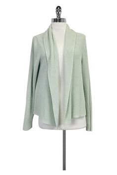 Eileen Fisher- Mint Green Open Cardigan Sz PL | Current Boutique