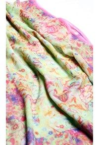 Pashmina,The Carpet Cellar,Lemon Lie Pashmina Print Stole