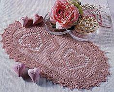 Oval brikke filet coricini (1) - magiedifilo.it kors stitch heklemønstre frie kreative hobbyer