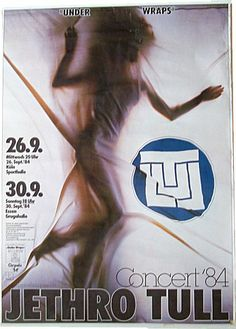 Jethro Tull promo poster, Germany 1984