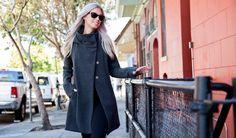 All-Day Coat | Women's Gray Swing Coat | Betabrand & Melissa Fleis