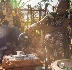 A traditional ethiopian coffee ceremony.