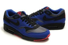 France 2014 Nike Air Max 1 Homme Old Royal/Noir Rouge M1H046 - €63.26