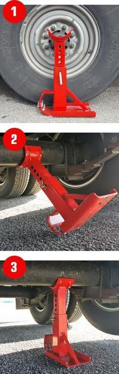 This jack is so much easier than normal scissor jacks or bottle jacks. I need this for my RV and boat trailer. #boataccessoriesstorage