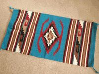 We have a Navajo rug with these colors hanging in our bedroom, this is the inspiration for bedroom remodel. Now, just to decide what to do!