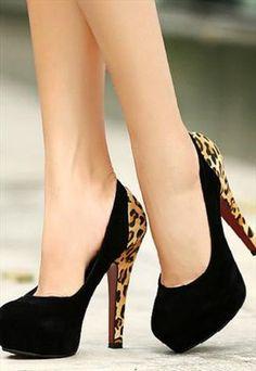 Suede leopard Print Fashion Pumps