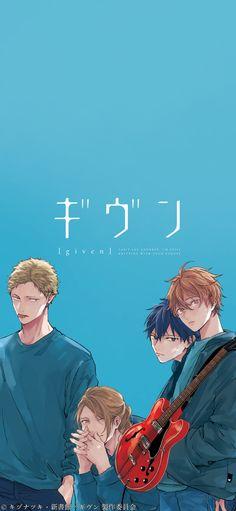 Given poster - Japan Anime Manga Music Slice Of Life Drama Romance Shounen Ai - Manga Anime, Pelo Anime, Fanarts Anime, Otaku Anime, Anime Characters, Anime Art, Anime Music, Wallpaper Animes, Cute Anime Wallpaper