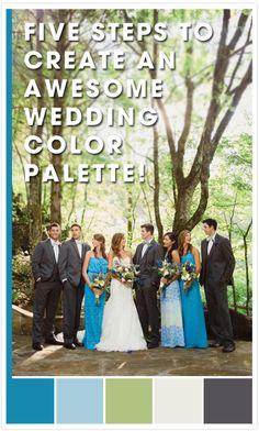 5 Steps for creating a wedding palette | Wedding Color Palette Tips