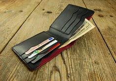 This black wallet for men minimal wallet slim wallet made of top quality genuine leather. Comfortable and sturdy due to the high quality