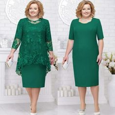Two Pieces Green Mother Of The Bride And Groom Dress Plus Size With Jacket Wedding Guests Dress Women Party Gowns