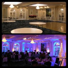 Here S A Before After Example Of The Impact Winter Themed Lighting Can Have
