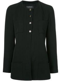 Comprar Chanel Vintage collarless boxy jacket