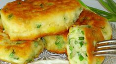 Recipe Pancakes on kefir with green onions Hungarian Recipes, Russian Recipes, Good Food, Yummy Food, Cooking Recipes, Healthy Recipes, Galette, Seafood Dishes, Tasty Dishes