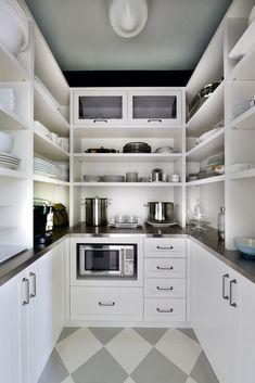 Home Decor Kitchen .Home Decor Kitchen Kitchen Pantry Design, Home Decor Kitchen, Prep Kitchen, Kitchen Ideas, Kitchen Appliances, Layout Design, Design Ideas, Pantry Room, Minimalist Home Interior