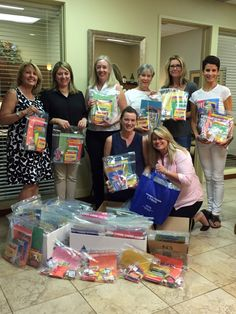 Coldwell Banker Orinda donated supplies and put together 100 Activity Kits for the children at Lucile Packard Children's Hospital Stanford, Coldwell Banker Residential Brokerage's charity partner in the San Francisco Bay Area. (Pictured: Tina Jones, Soraya Golesorkhi, Sheryl Kortright, Pam Gough, Terry McQueen and Kat O'Donnell, Andi Brown and Tracey Fordahl) #GiveWhereYouLive