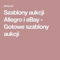 Szablony aukcji Allegro i eBay - Gotowe szablony aukcji
