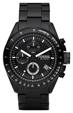 Free shipping and returns on Fossil Chronograph Tachymeter Watch, 44mm at Nordstrom.com. Three-eye chronograph dial offers a clean, modern look on a blacked-out bracelet watch.