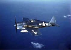 F6F-5 Hellcat fighter in flight, 1943-45. Source United States Navy