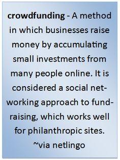 #crowdfunding #defined - #crowdfund
