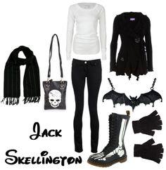 Disney bound Jack Skellington outfit