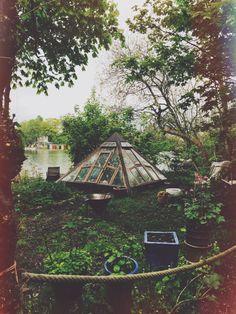 {<3} magical garden pyramid greenhouse