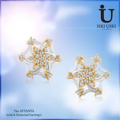 Browse through a wide #selection of #pure #gold or #diamond #earrings from IskiUski.com. Shop for the best #earring #designs here!!