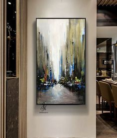 City Abstract Painting Artworks Cityscape Painting Modern Urban Abstraction Acrylic Abstract Painting On Canvas by Julia Kotenko by JuliaKotenkoArt on Etsy City Painting, Oil Painting Abstract, Acrylic Painting Canvas, Grand Art Mural, Art Texture, Abstract City, Gold Leaf Art, City Art, Oeuvre D'art
