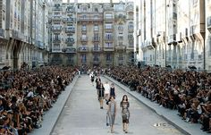 Chanel recreates Paris boulevard in star filled colourful show