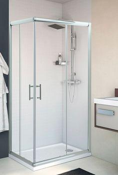 Mampara rectangular corredera - baño principal