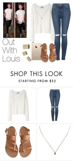 """Out With Louis"" by the4dipshits ❤ liked on Polyvore featuring Acne Studios, Topshop, Ancient Greek Sandals and Madewell"