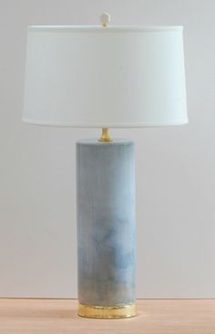 "Blue Cascade Rain lamp, 27.75"" high, $695"