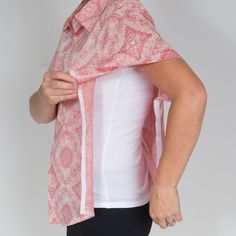 Image of Adaptive Ladies Shirt - Floral Design