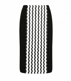 Opening Ceremony Wave Crepe Pencil Skirt