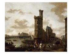 And this is the final destination of our protagonist, the Porte de Nesle, Paris in a painting by by Pieter Wouwerman. Could be fun to model :D The Final Destination, Louvre, Dutch Painters, Les Oeuvres, Framed Artwork, Find Art, Images, Landscape, Painting