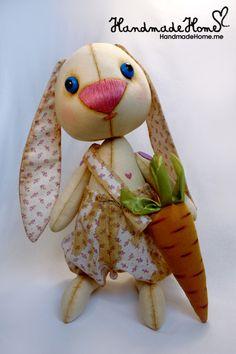 #Collectible #Art #Toy #Bunny Prosha #Handmade #interior one of a kind doll - See more at: http://www.handmadehome.me/shop/kukly#sthash.9wlWC9Fj.dpuf