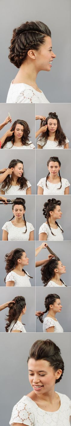 How To: High Fashion Faux Hawk A Practical Wedding: Blog Ideas for the Modern Wedding, Plus Marriage