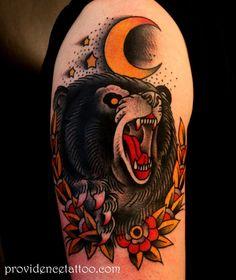 american traditional tattoo bear - Google Search