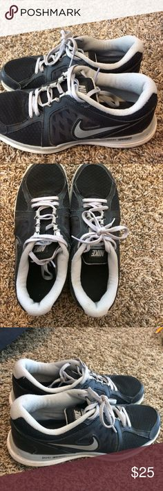 NIKE SHOES Black and light gray in good condition, little worn but can hardly tell. Nike Shoes Athletic Shoes