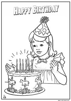 Birthday Coloring Pages For Kids Holidays Card Happy Ideas Parties Colored Pencils