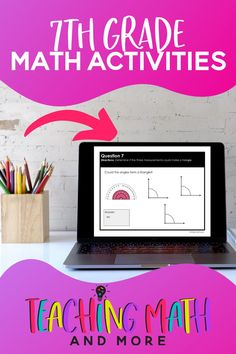 Digital Math Activities that students LOVE! Great math resources for students in 7th Grade. Works well with distance learning for middle school math. All digital activities cover every benchmark and skill for middle school math. Try a math activity today!#digitalmathactivitiesmiddleschool #digitalmathactivities7thgrade #distancelearningmiddleschoolmath