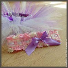 Юбка-пачка туту и повязка для новорожденной девочки!