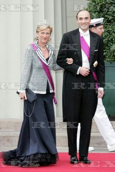 WEDDING OF CROWN PRINCE FREDERIK AND MARY DONALDSON, COPENHAGEN CATHEDRAL, DENMARK - 14 MAY 2004  PRINCE LORENZ AND PRINCESS ASTRID OF BELGIUM 14 May 2004