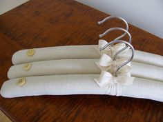 Padded Hangers, Ladies Padded Hangers, Hopsack Linen Padded by ootch $36.00  A personal /practical gift for someone who has everything!