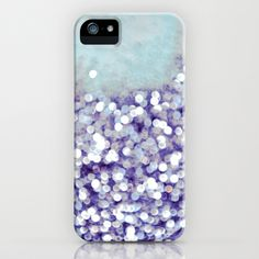 sea of bling - indigo iPhone & iPod Case by Iris Lehnhardt - $35.00