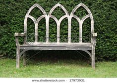 Bench In An English Country Garden  (inspiration for stained glass SWAP)