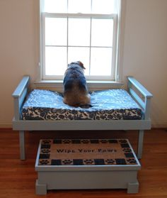 OMG just the cutest lil bed so they can see above the feet wiping table!!! Just the cutest IF u have a lil one...