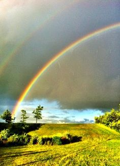 Double rainbow taken in Lomma Sweden
