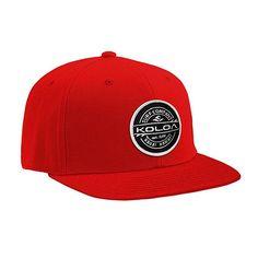 67dfe3864ef15 Koloa Surf Thruster Patch Logo Solid Snapback Hat-Red w Gorras